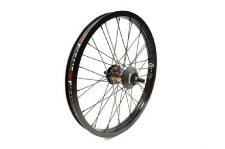 Primo RHD VS Freemix Rear Wheel With Hubguards - Oil Slick Hub With Black Rim 9 Tooth
